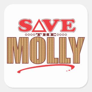 Molly Save Square Sticker
