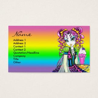 """Molly"" Sherbet Ice Cream Rainbow Fairy Postage Business Card"