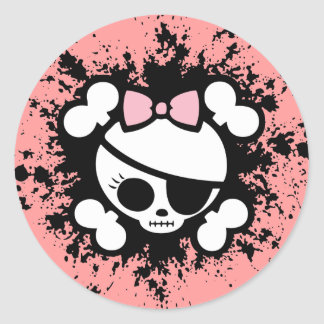 Molly Splat Classic Round Sticker