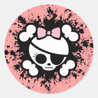 Molly Splat Round Sticker