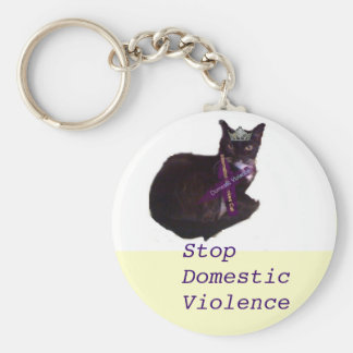 molly, Stop Domestic Violence Basic Round Button Key Ring