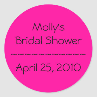 Molly's Bridal Shower~~~~~~~~~~~April 25, 2010 Round Sticker