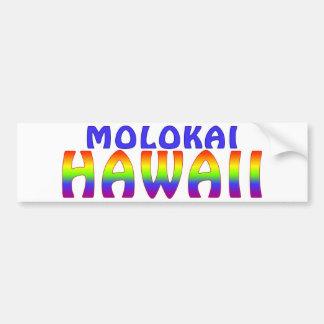Molokai Hawaii rainbow writing Car Bumper Sticker