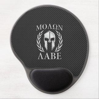 Molon Labe Chrome Style Spartan Armor Carbon Fiber Gel Mouse Mat