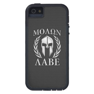 Molon Labe Chrome Style Spartan Armor Carbon Fiber iPhone 5 Case