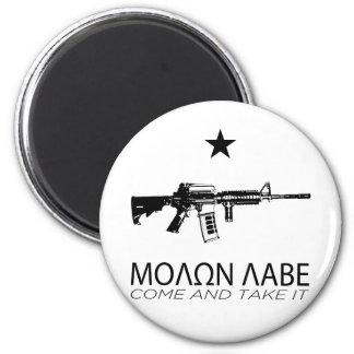 Molon Labe - Come And Take It 6 Cm Round Magnet