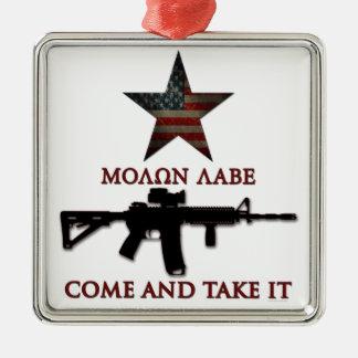 Molon Labe - Come And Take It Christmas Ornament