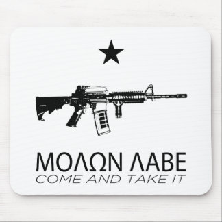 Molon Labe - Come And Take It Mouse Pad