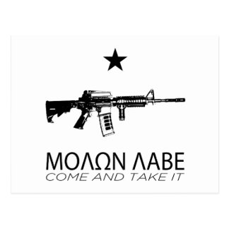 Molon Labe - Come And Take It Postcard