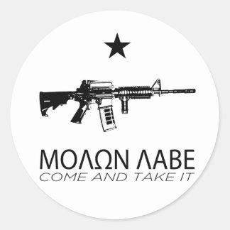 Molon Labe - Come And Take It Round Sticker