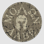 Molon Labe, Come and Take Them Round Sticker