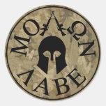 Molon Labe, Come and Take Them Round Stickers