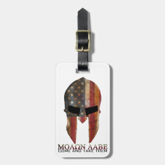 Molon Labe - Come and Take Them USA Spartan Luggage Tag