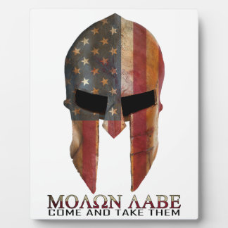 Molon Labe - Come and Take Them USA Spartan Photo Plaque