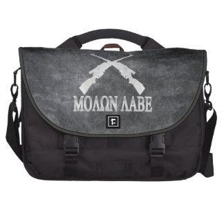 Molon Labe Crossed Rifles 2nd Amendment Computer Bag