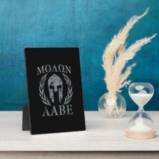 Molon Labe Grunge Spartan Armor Photo Plaque
