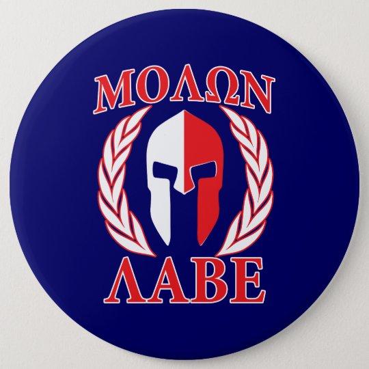 Molon Labe Spartan Armour Laurels Navy Blue 6 Cm Round Badge