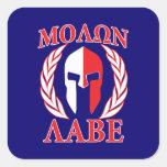 Molon Labe Spartan Helmet Laurels Tri-Colour