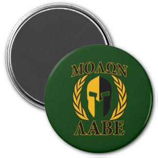 Molon Labe Spartan Laurels Forest Green Decor 7.5 Cm Round Magnet