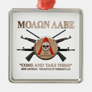 Molon Labe - Spartan Shield Christmas Ornament