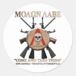 Molon Labe - Spartan Shield Round Stickers