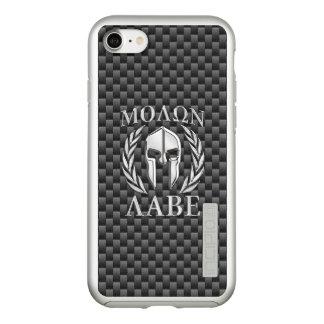 Molon Labe Spartan Warrior Carbon Fiber Print on a Incipio DualPro Shine iPhone 8/7 Case