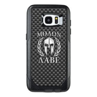 Molon Labe Spartan Warrior Carbon Fiber Print on a OtterBox Samsung Galaxy S7 Edge Case