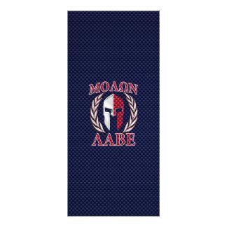 Molon Labe Spartan Warrior Carbon Fiber Print Personalised Rack Card