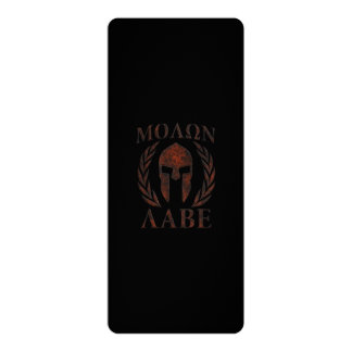 Molon Labe Spartan Warrior Laurels 10 Cm X 24 Cm Invitation Card