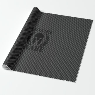 Molon Labe Spartan Warrior Laurels Carbon Decor Wrapping Paper