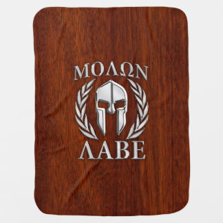 Molon Labe Spartan Warrior Laurels Chro Wood Print Baby Blanket