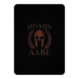 Molon Labe Spartan Warrior Mask Laurels Iron Card