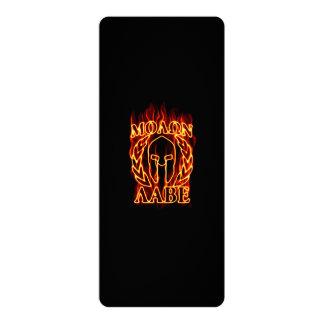 Molon Labe Spartan Warrior on Fire 10 Cm X 24 Cm Invitation Card
