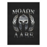 Molon Labe Steel Spartan Helmet on Carbon Fibre Poster