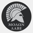 Molon Labe vers01 round decal sticker