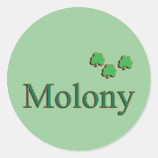 Molony Family Round Stickers