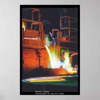 Molten Copper Poster