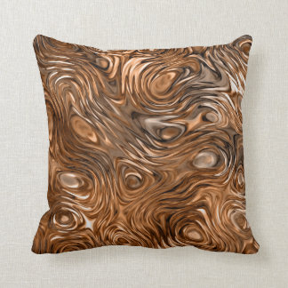 "Molten ""Copper"" print throw pillow square"