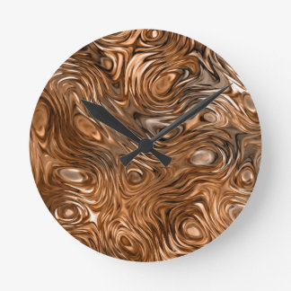 "Molten ""Copper"" print wall clock"