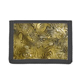 "Molten ""Gold"" print nylon wallet"