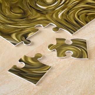 "Molten ""Gold"" print photo puzzle"