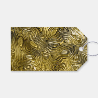 "Molten ""Gold"" print Text gift tags black"