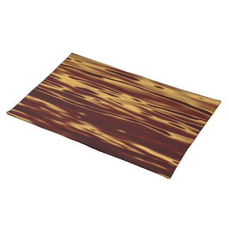 Molten Gold Ripple Effect Placemats