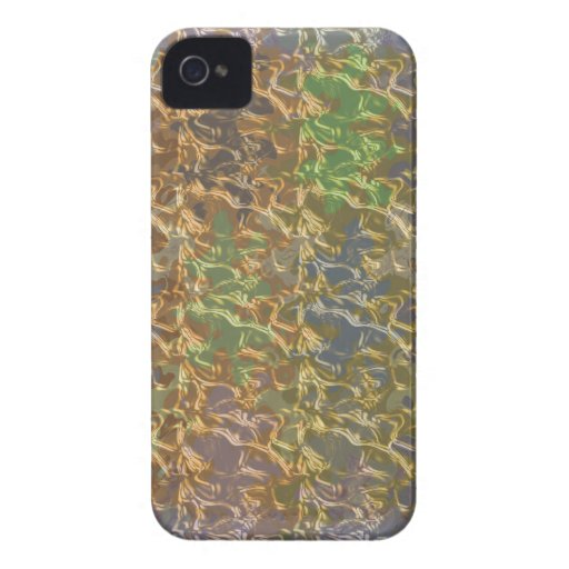Molten Gold Strands in Rare Earth Color Collection Blackberry Cases
