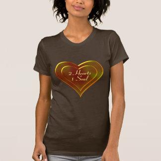 Molten Metal Two Heart One Soul Design Shirt