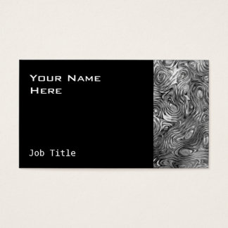 Molten print business card side black