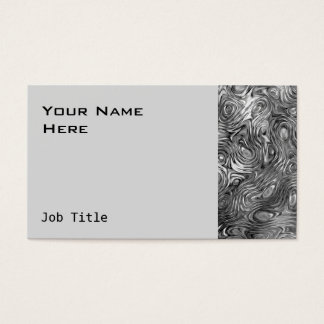 Molten print business card side grey