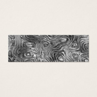 Molten print business card skinny white
