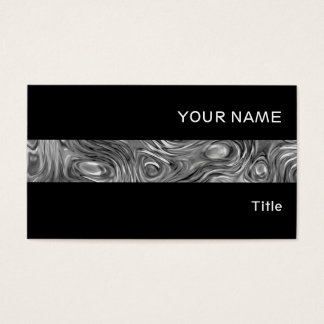 Molten print business card stripe black