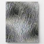 MOLTEN silver AQUA MELTED METAL DIGITAL ABSTRACT R Photo Plaque